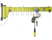 Консольные краны настенные с механическим поворотом консоли
