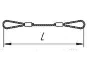 Строп канатный петелевой СКП