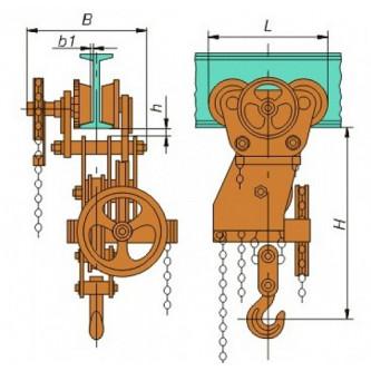 Таль ручная червячная с механизмом передвижения (ТРЧМП)