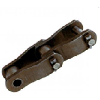 Роликовая цепь с изогнутыми пластинами