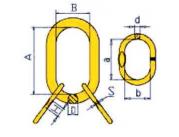 Звено с дополнительными звеньями для 3- и 4-ветвевых цепных строп DIN 5688