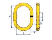 Звено подъемное для 1- и 2-ветвевых цепных строп  DIN 5688