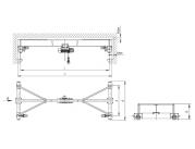 Опорный мостовой кран (грузоподъемность 3,2 тонны)