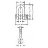 Такелажная скоба СА 2150 - 2