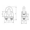 Зажим для канатов DIN 1142 - 2
